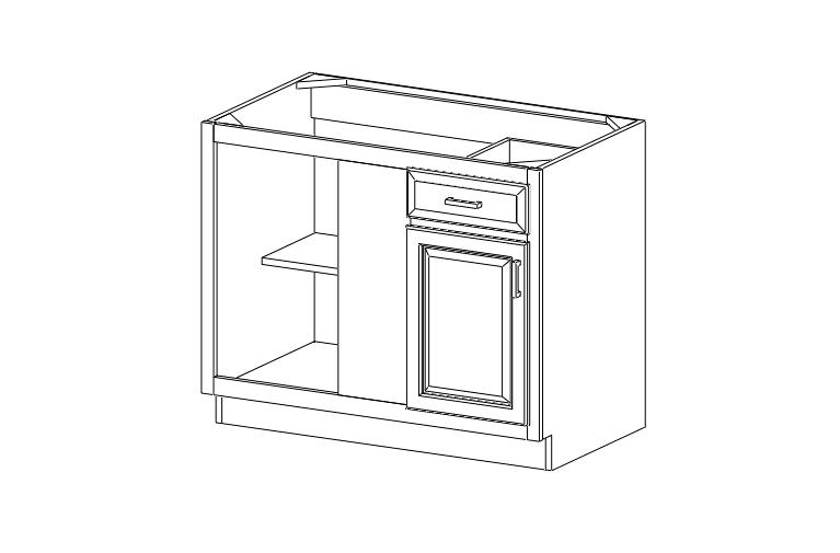 Deluxe Chocolate Shaker F&d RTA Cabinets: BLB42